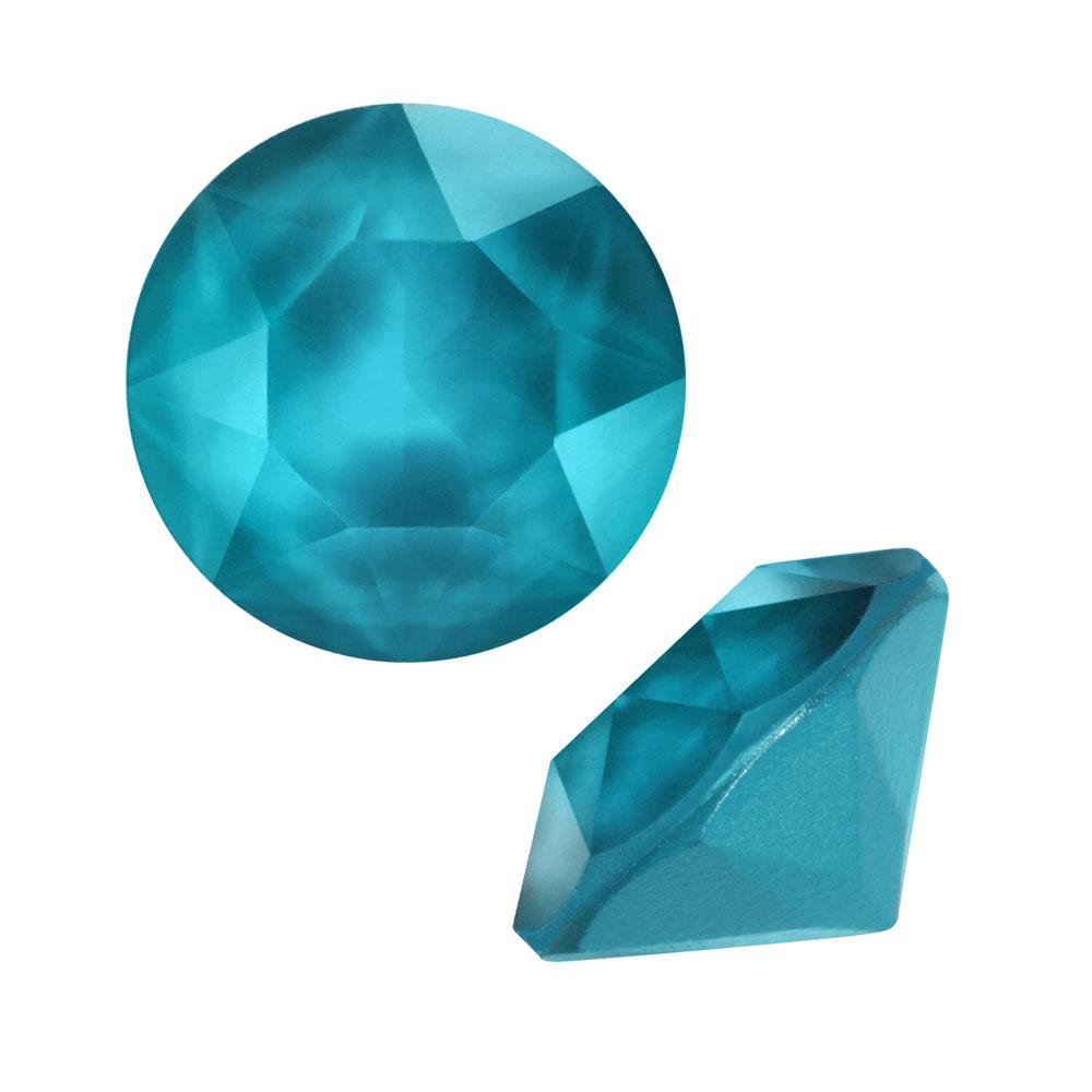 Swarovski Crystal, #1088 Xirius Round Stone Chatons ss39, 6 Pieces, Crystal Azure Blue
