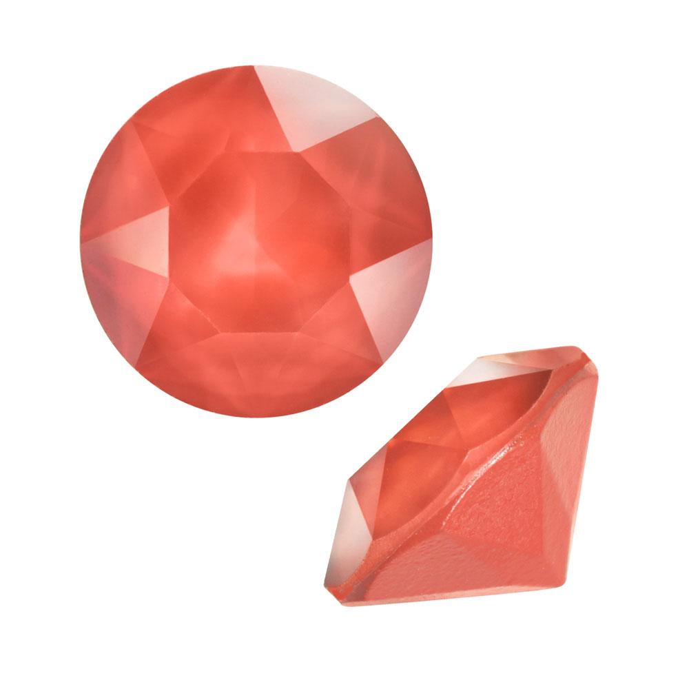 Swarovski Crystal, #1088 Xirius Round Stone Chatons ss39, 6 Pieces, Crystal Light Coral
