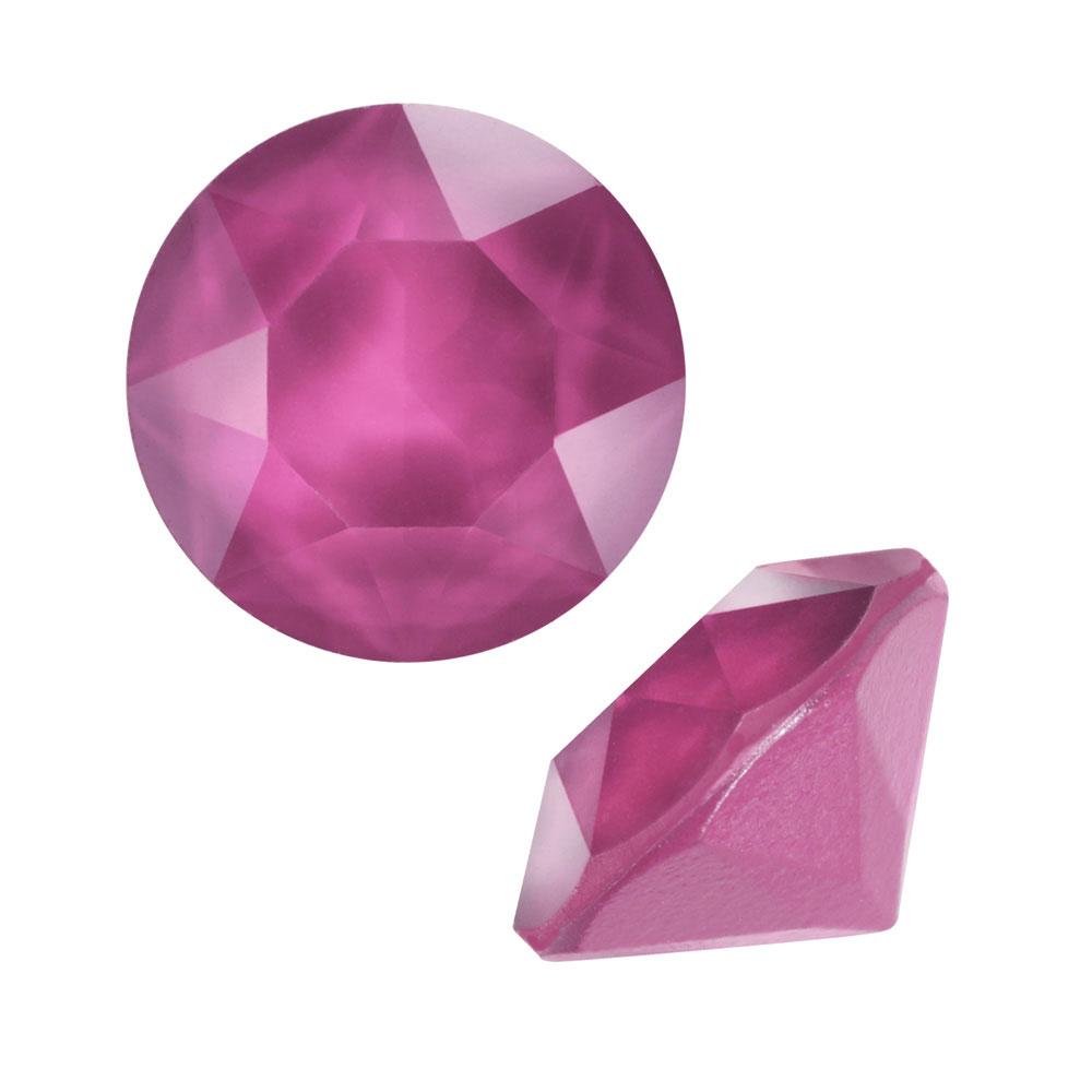 Swarovski Crystal, #1088 Xirius Round Stone Chatons ss39, 6 Pieces, Crystal Peony Pink