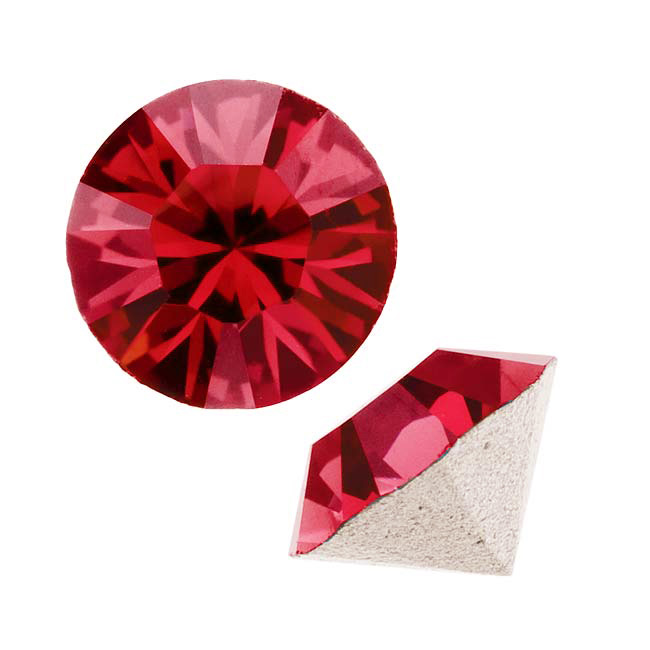 Swarovski Crystal, #1088 Xirius Round Stone Chatons ss39, 6 Pieces, Scarlet