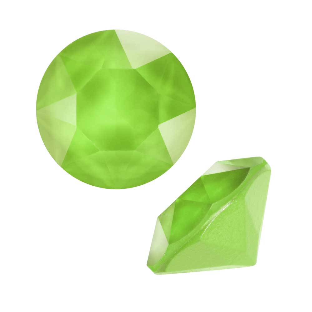 Swarovski Crystal, #1088 Xirius Round Stone Chatons ss39, 6 Pieces, Crystal Lime