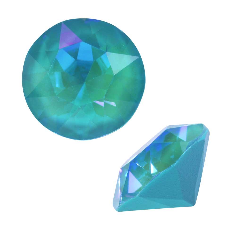 Swarovski Crystal, #1088 Xirius Round Stone Chatons ss39, 6 Pieces, Crystal Laguna DeLite