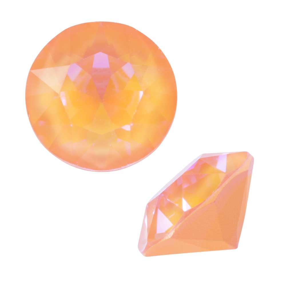 Swarovski Crystal, #1088 Xirius Round Stone Chatons ss39, 6 Pieces, Crystal Peach DeLite