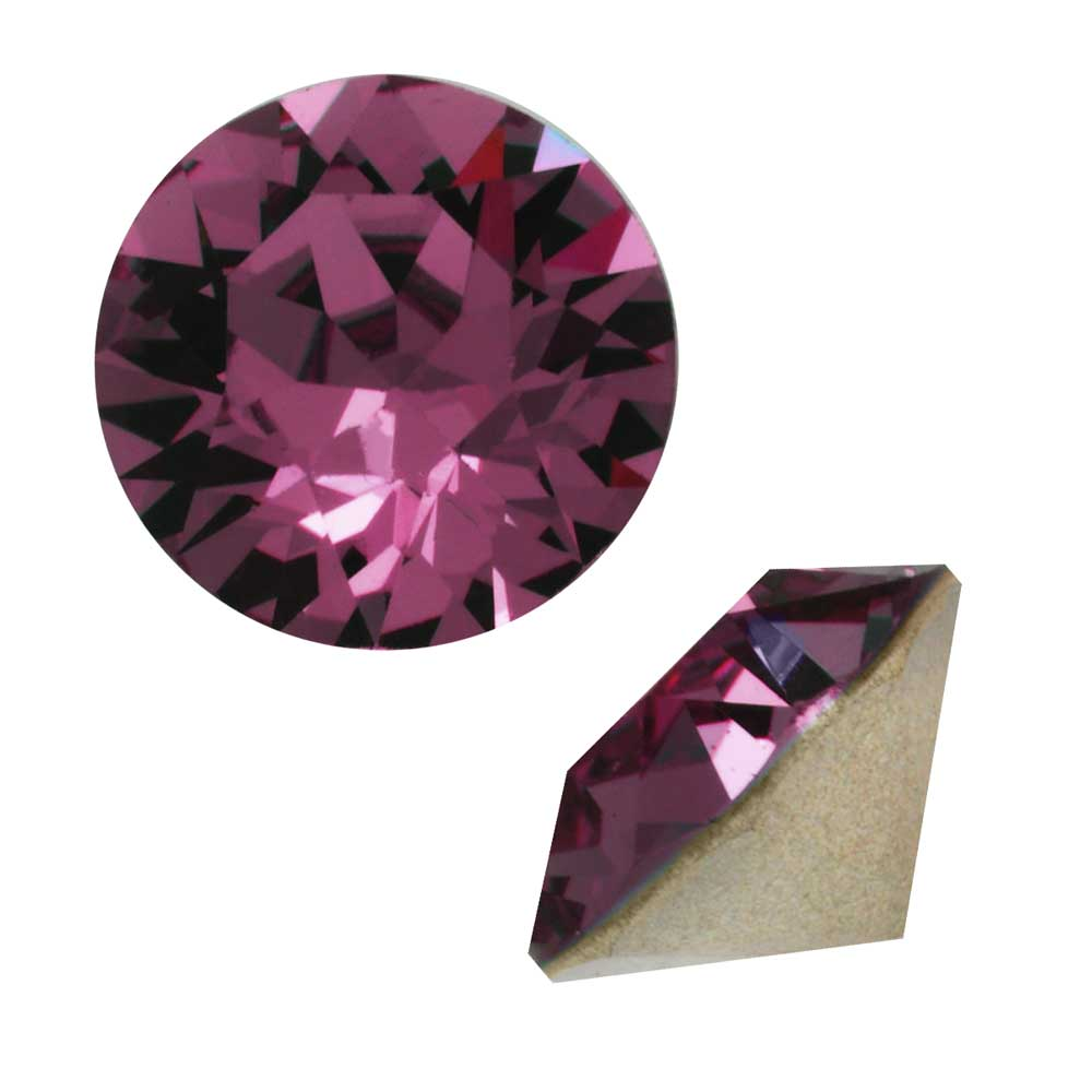 Swarovski Crystal, #1088 Xirius Round Stone Chatons ss39, 6 Pieces, Amethyst F