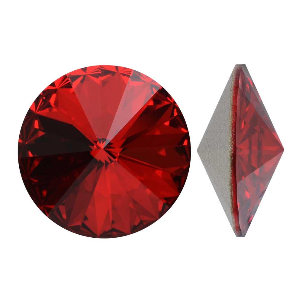 Swarovski Crystal, #1122 Rivoli Fancy Stones 14mm, 2 Pieces, Scarlet