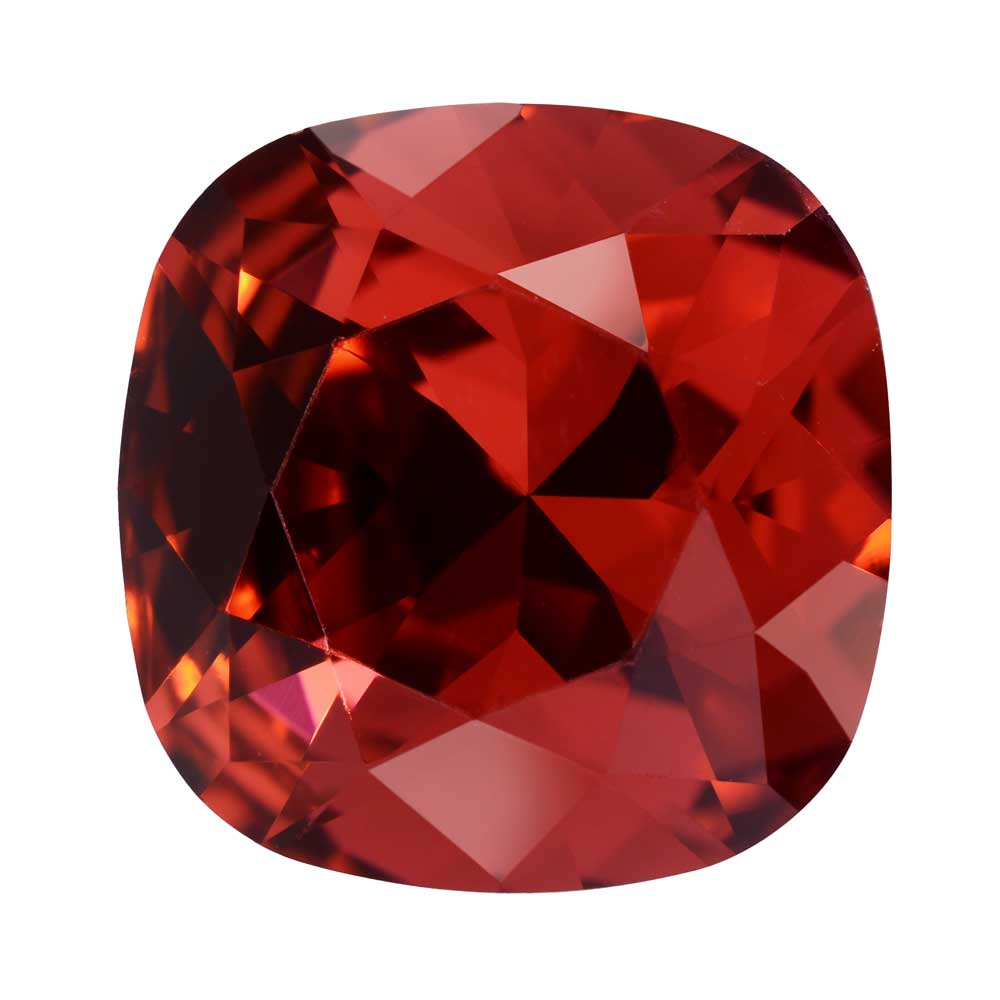 Swarovski Crystal, #4470 Cushion Fancy Stone 12mm, 1 Piece, Scarlet Foiled