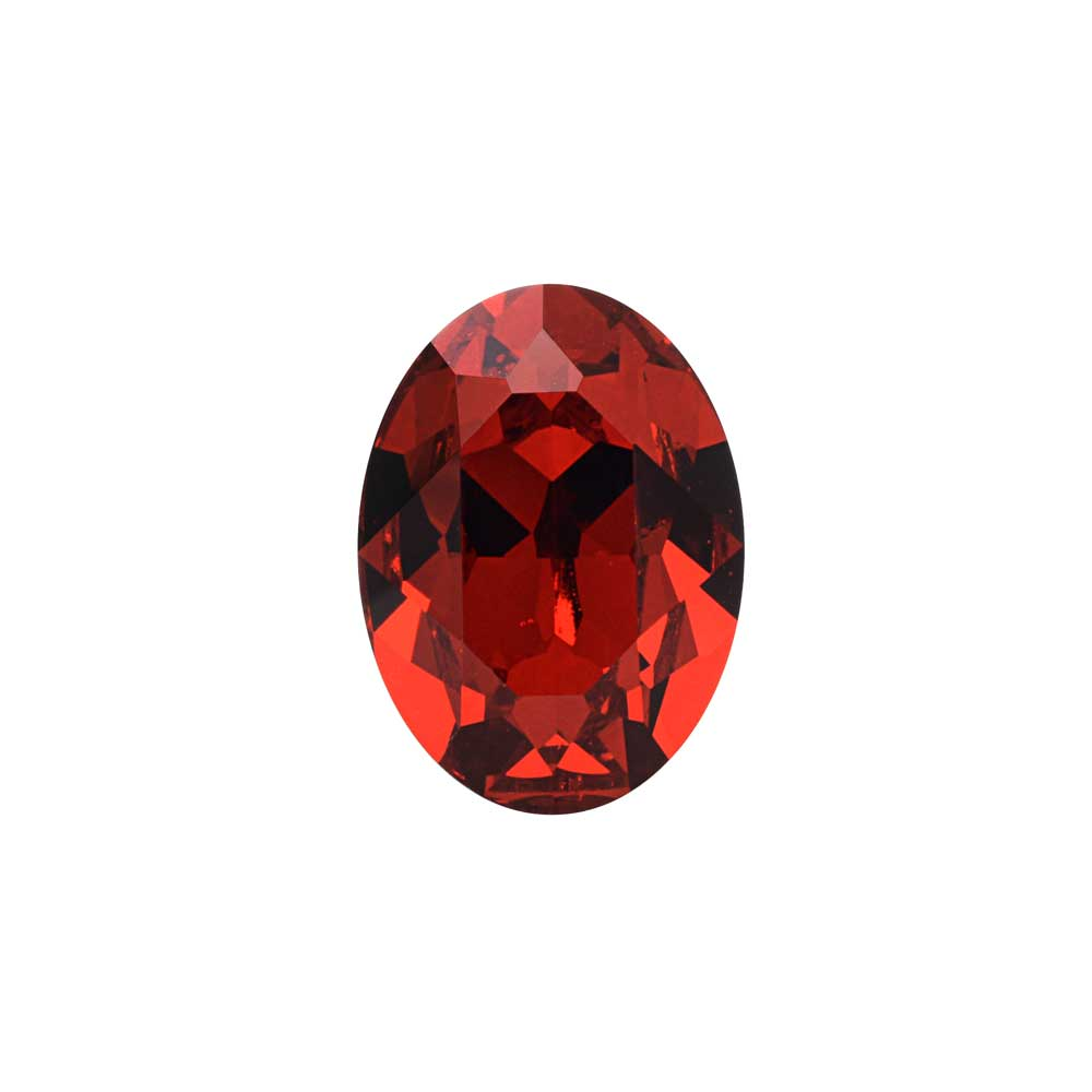 Swarovski Crystal, #4120 Oval Fancy Stones 14x10mm, 1 Piece, Scarlet F