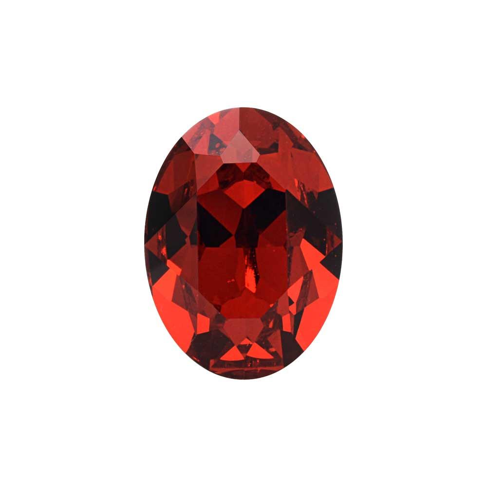 Swarovski Crystal, #4120 Oval Fancy Stones 18x13mm, 1 Piece, Scarlet F
