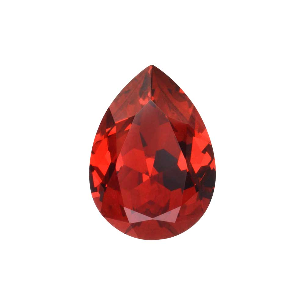 Swarovski Crystal, #4320 Pear Fancy Stone 18x13mm, 1 Piece, Scarlet F