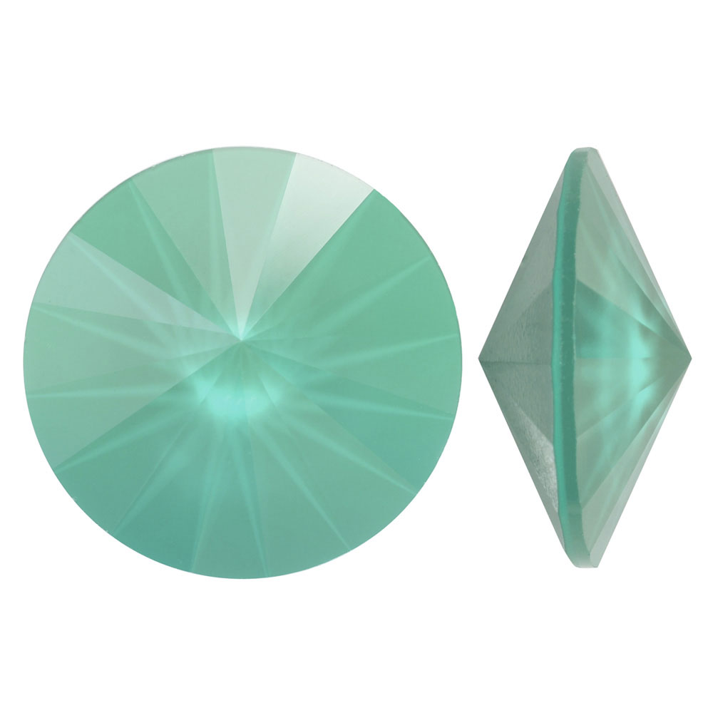 Swarovski Crystal, #1122 Rivoli Fancy Stones 12mm, 4 Pieces, Crystal Mint Green
