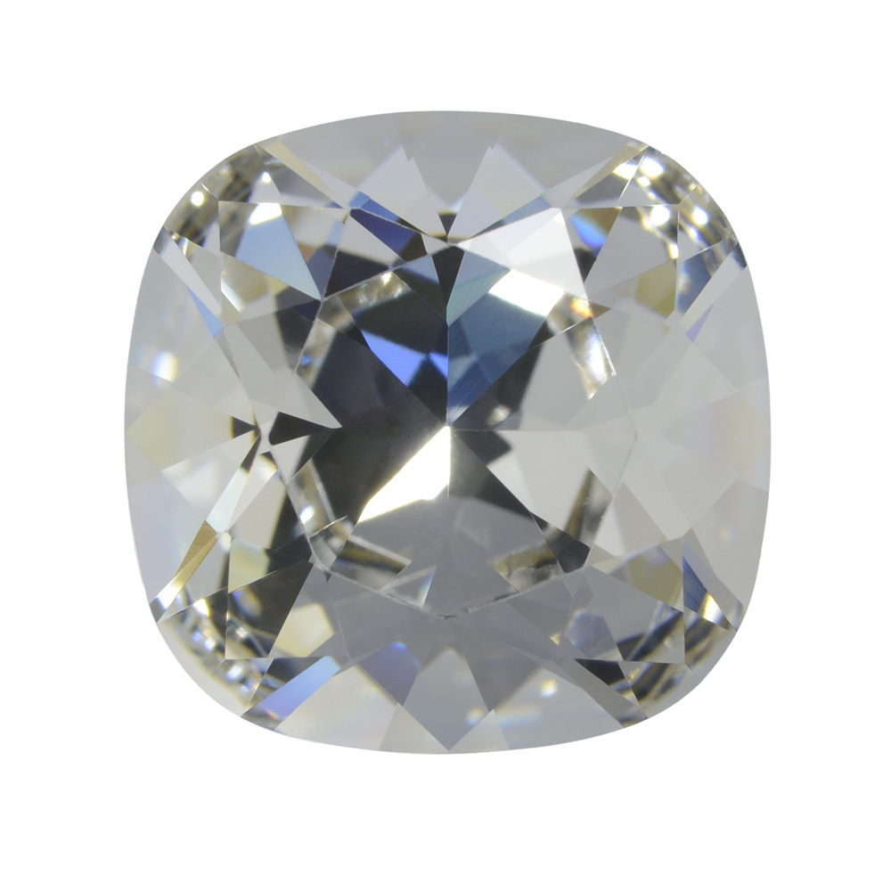 Swarovski Crystal, #4470 Cushion Fancy Stone 12mm, 1 Piece, Crystal Foiled