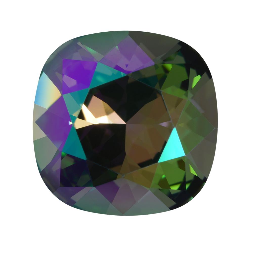 Swarovski Crystal, #4470 Cushion Fancy Stone 12mm, 1 Piece, Crystal Paradise Shine Foiled