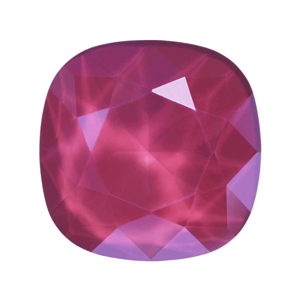 Swarovski Crystal, #4470 Cushion Fancy Stone 12mm, 1 Piece, Crystal Peony Pink