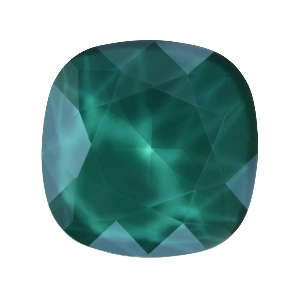 Swarovski Crystal, #4470 Cushion Fancy Stone 12mm, 1 Piece, Crystal Royal Green