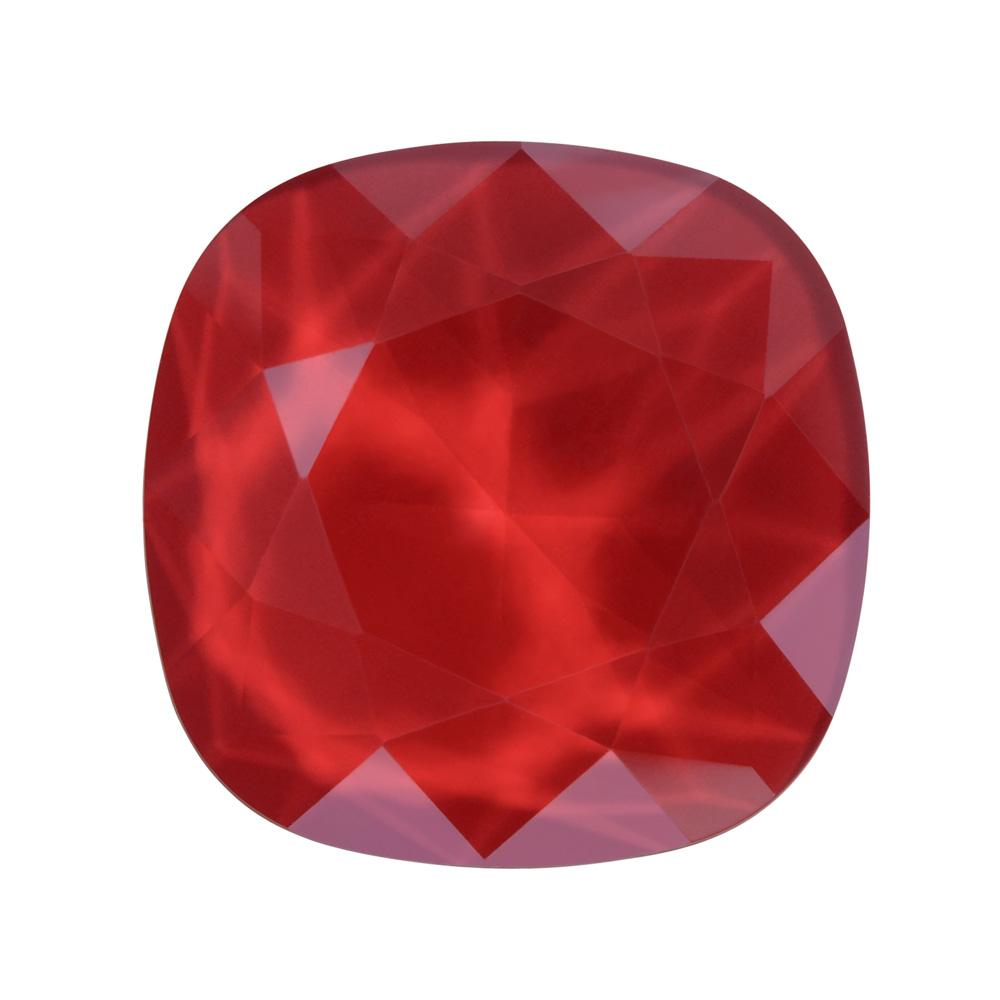 Swarovski Crystal, #4470 Cushion Fancy Stone 12mm, 1 Piece, Crystal Royal Red