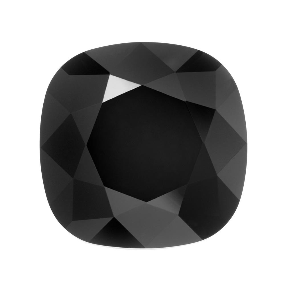 Swarovski Crystal, #4470 Cushion Fancy Stone 12mm, 1 Piece, Jet