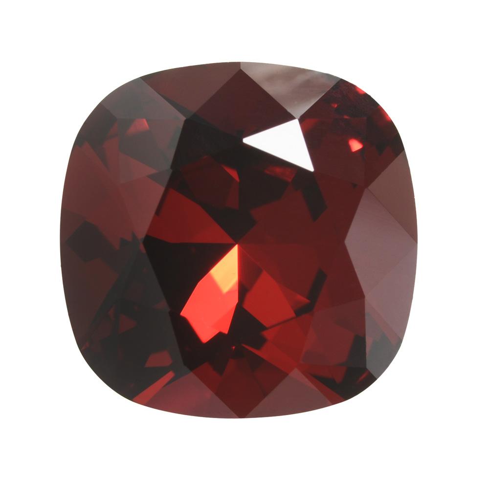 Swarovski Crystal, #4470 Cushion Fancy Stone 12mm, 1 Piece, Siam Foiled