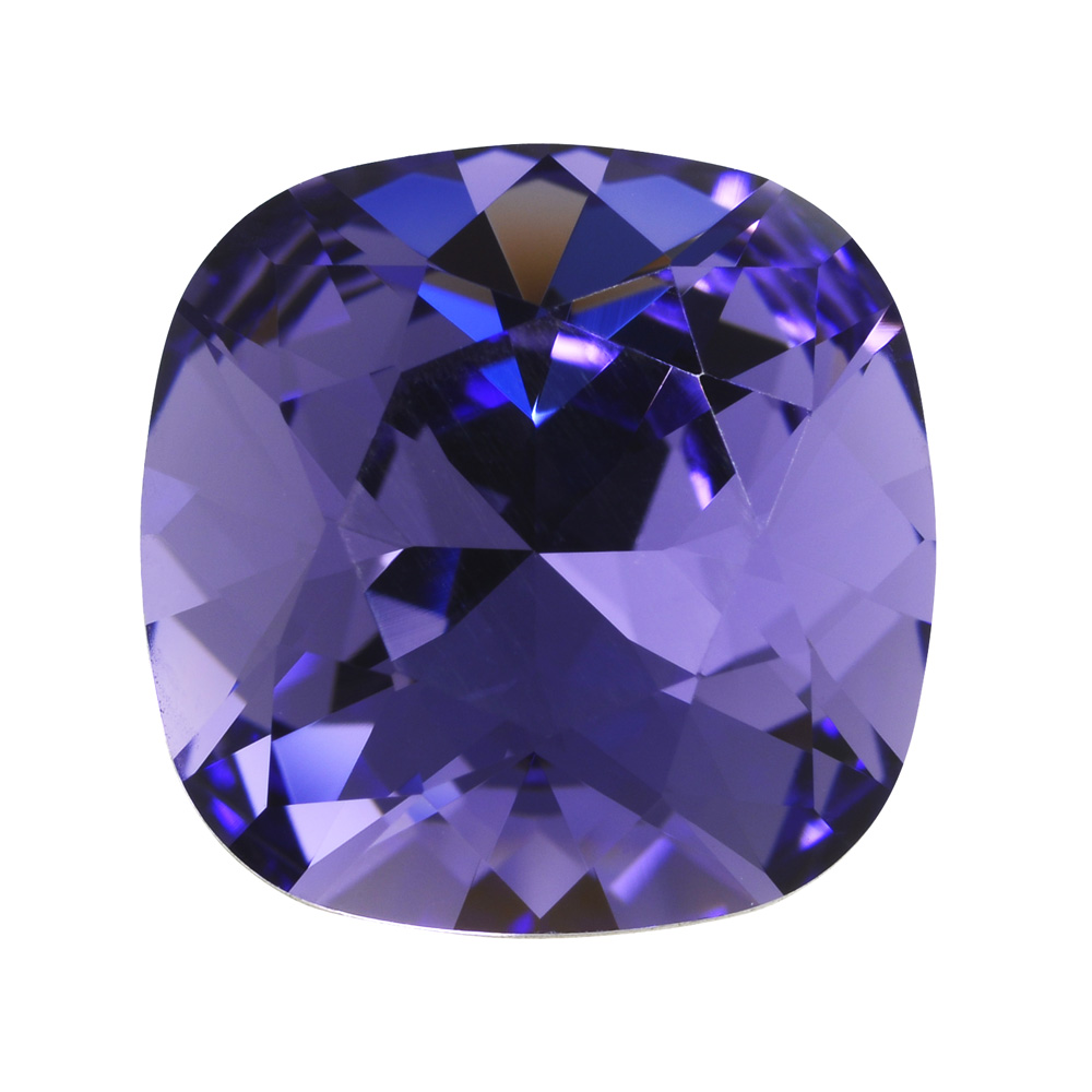 Swarovski Crystal, #4470 Cushion Fancy Stone 12mm, 1 Piece, Tanzanite Foiled