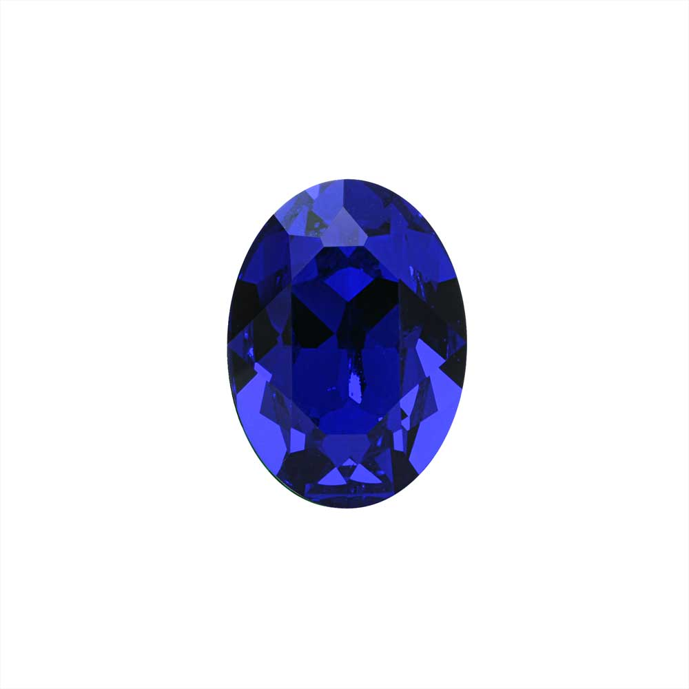 Swarovski Crystal, #4120 Oval Fancy Stones 14x10mm, 1 Piece, Majestic Blue F