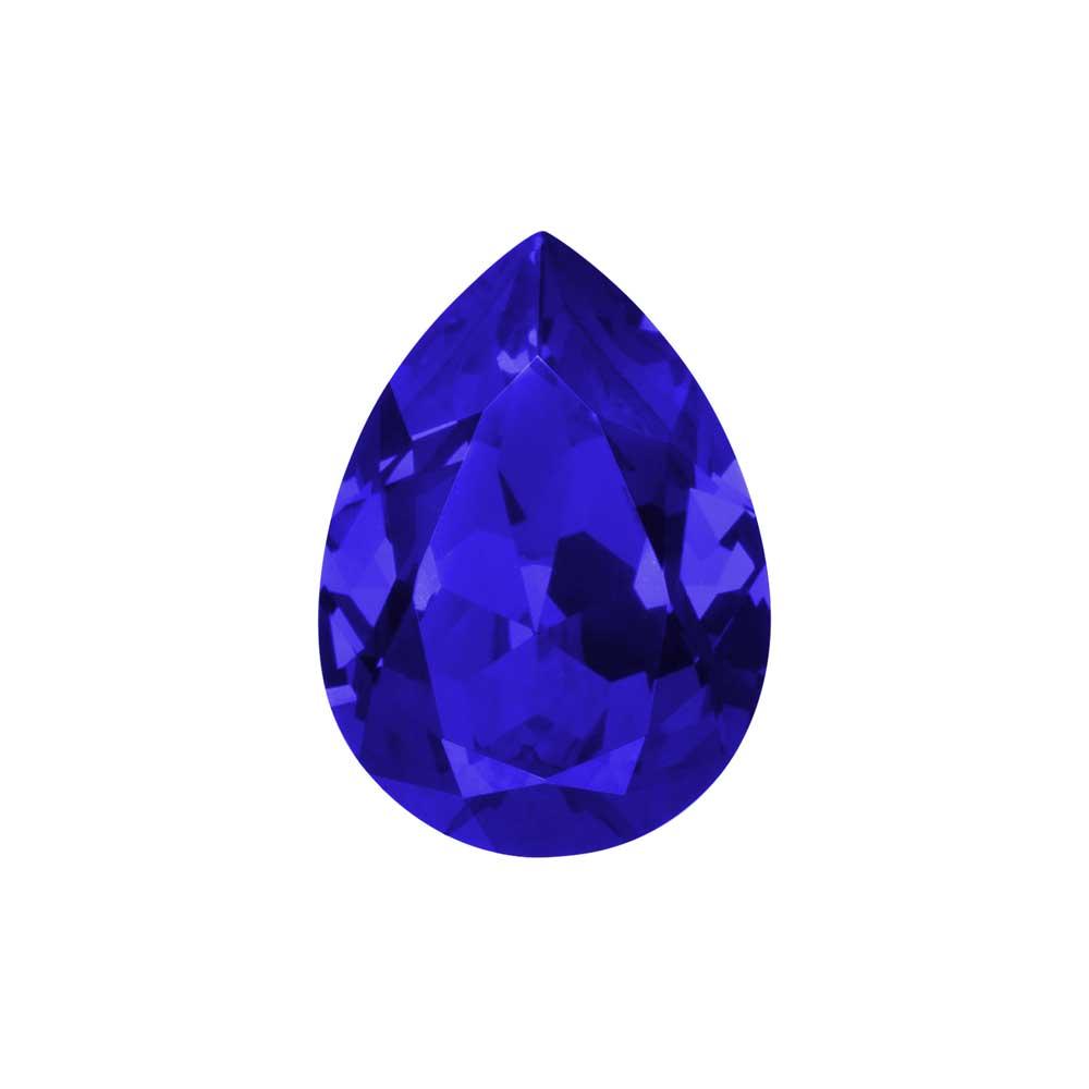 Swarovski Crystal, #4320 Pear Fancy Stone 18x13mm, 1 Piece, Majestic Blue F