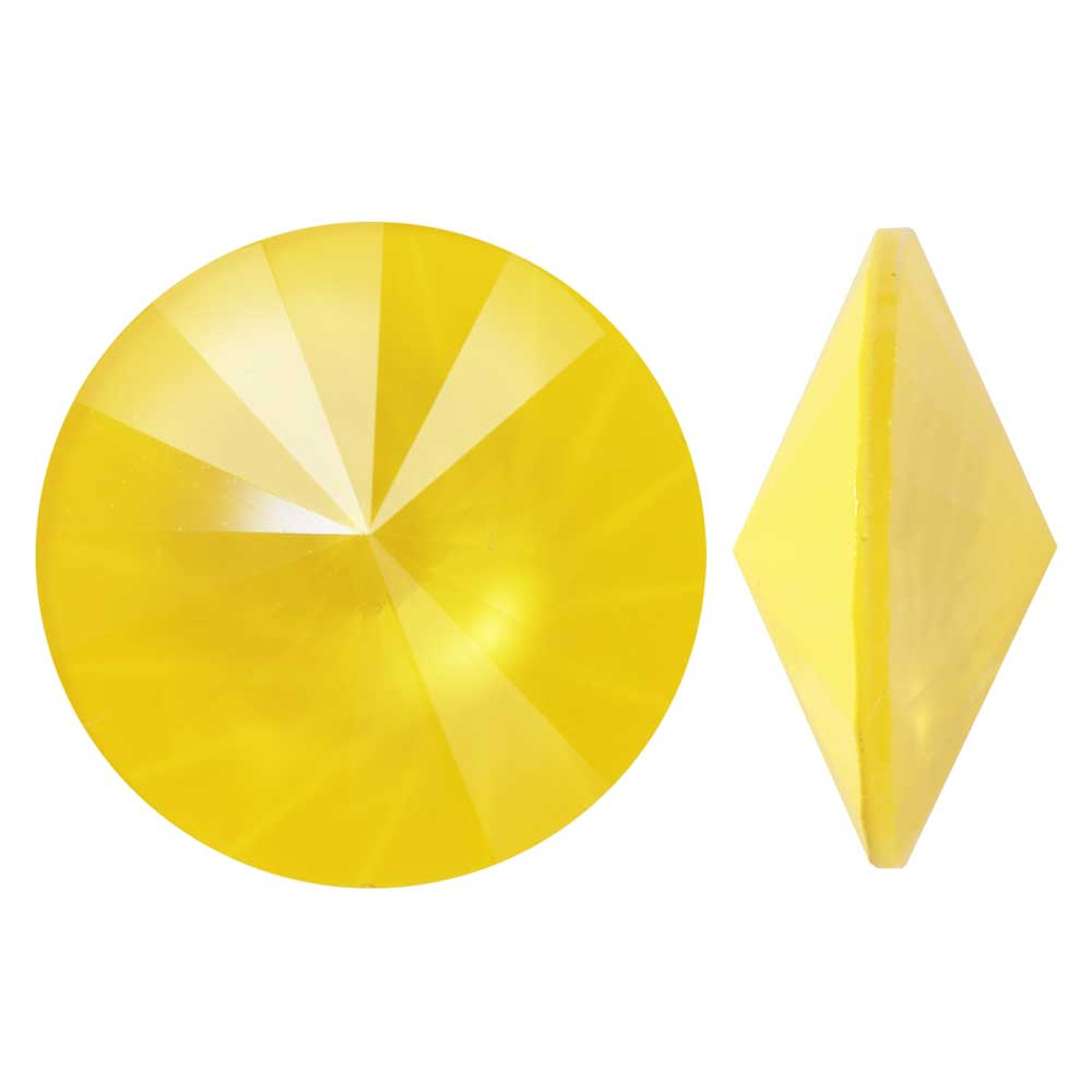 Swarovski Crystal, #1122 Rivoli Fancy Stones 14mm, 2 Pieces, Crystal Buttercup