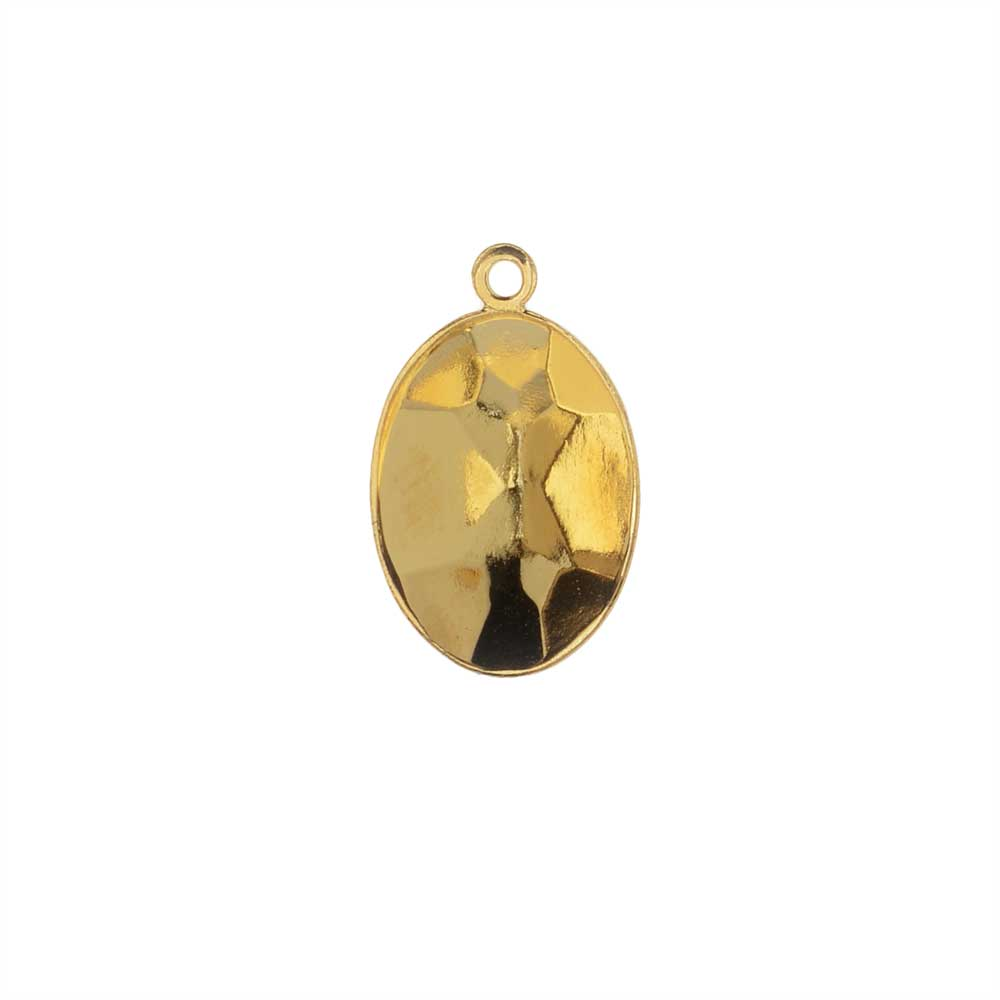 Swarovski Crystal Fancy Stone Pendant Setting, Fits #4120 Oval 14x10mm, 1 Piece, Gold Plated
