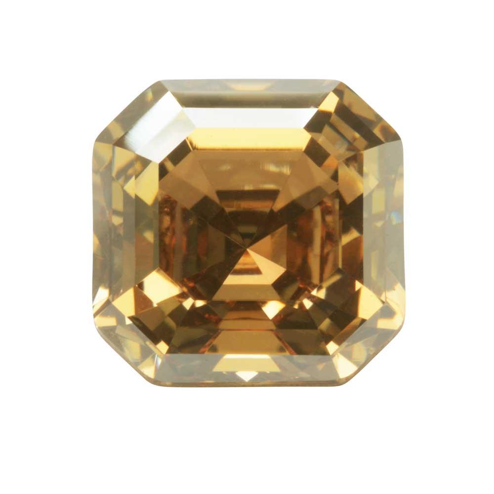 Swarovski Crystal, #4480 Imperial Fancy Stone 10mm, 1 Piece, Crystal Golden Shadow (Foiled)