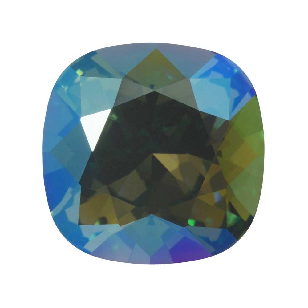 Swarovski Crystal, #4470 Cushion Fancy Stone 12mm, 1 Piece, Erinite Shimmer