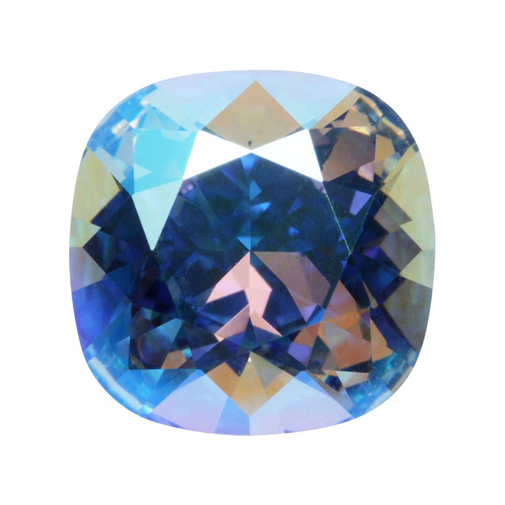 Swarovski Crystal, #4470 Cushion Fancy Stone 12mm, 1 Piece, Light Sapphire Shimmer