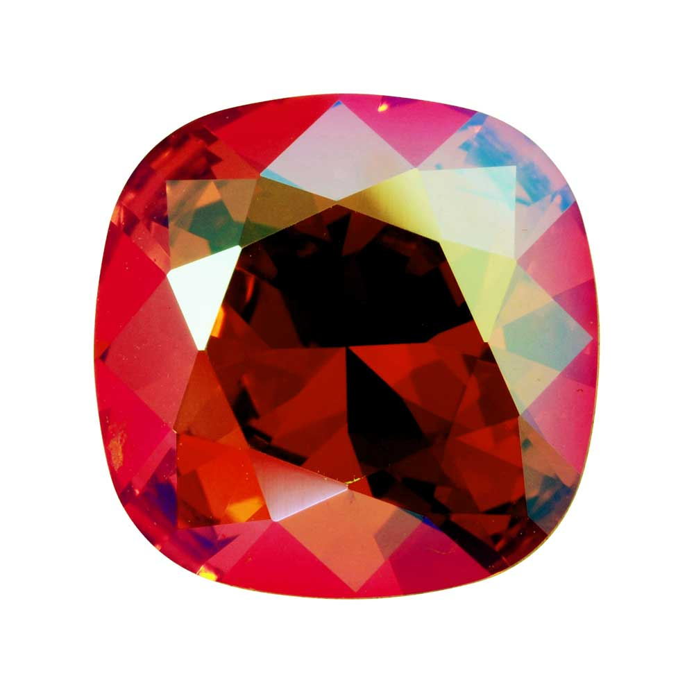 Swarovski Crystal, #4470 Cushion Fancy Stone 12mm, 1 Piece, Light Siam Shimmer