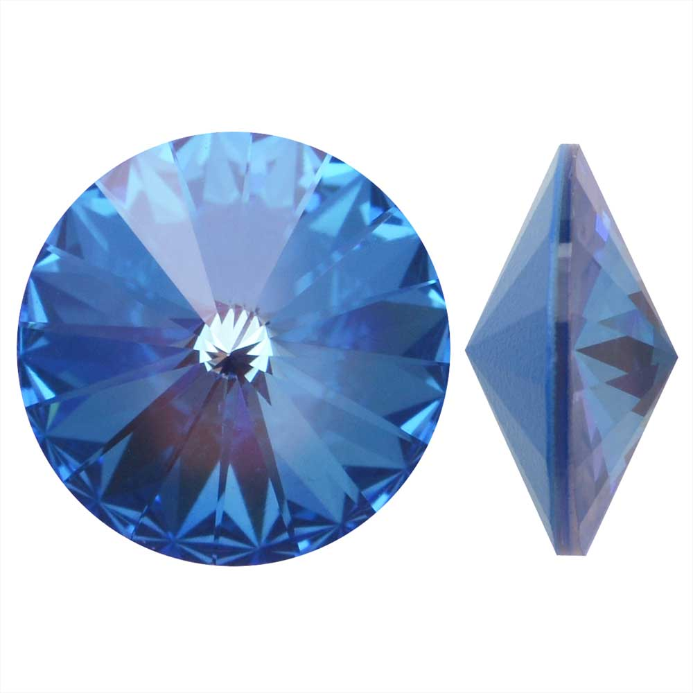 Swarovski Crystal, #1122 Rivoli Fancy Stones 12mm, 4 Pieces, Crystal Ocean DeLite