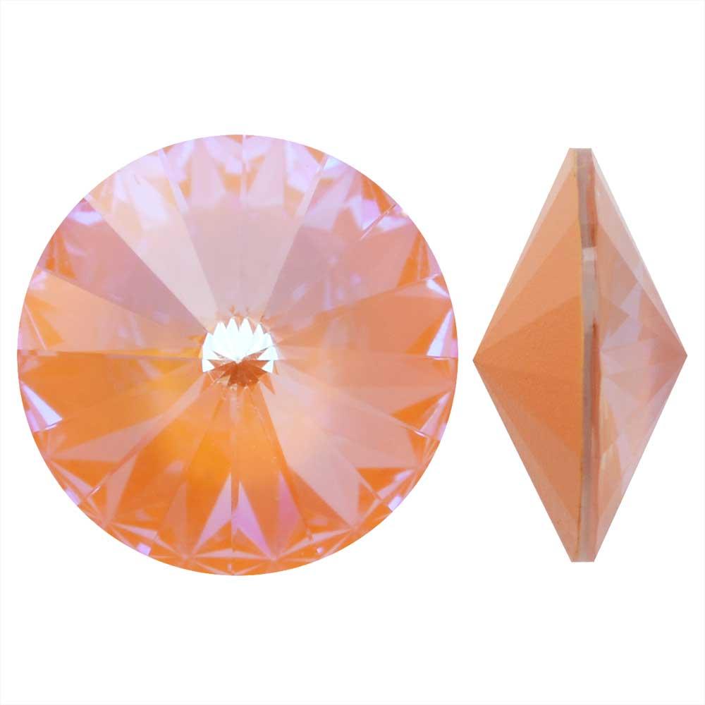 Swarovski Crystal, #1122 Rivoli Fancy Stones 12mm, 4 Pieces, Crystal Peach DeLite