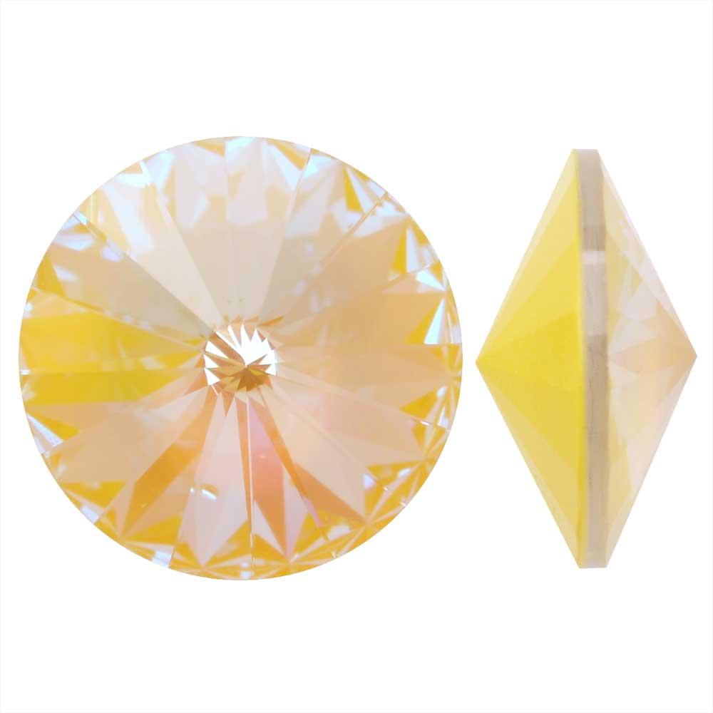 Swarovski Crystal, #1122 Rivoli Fancy Stones 12mm, 4 Pieces, Crystal Sunshine DeLite