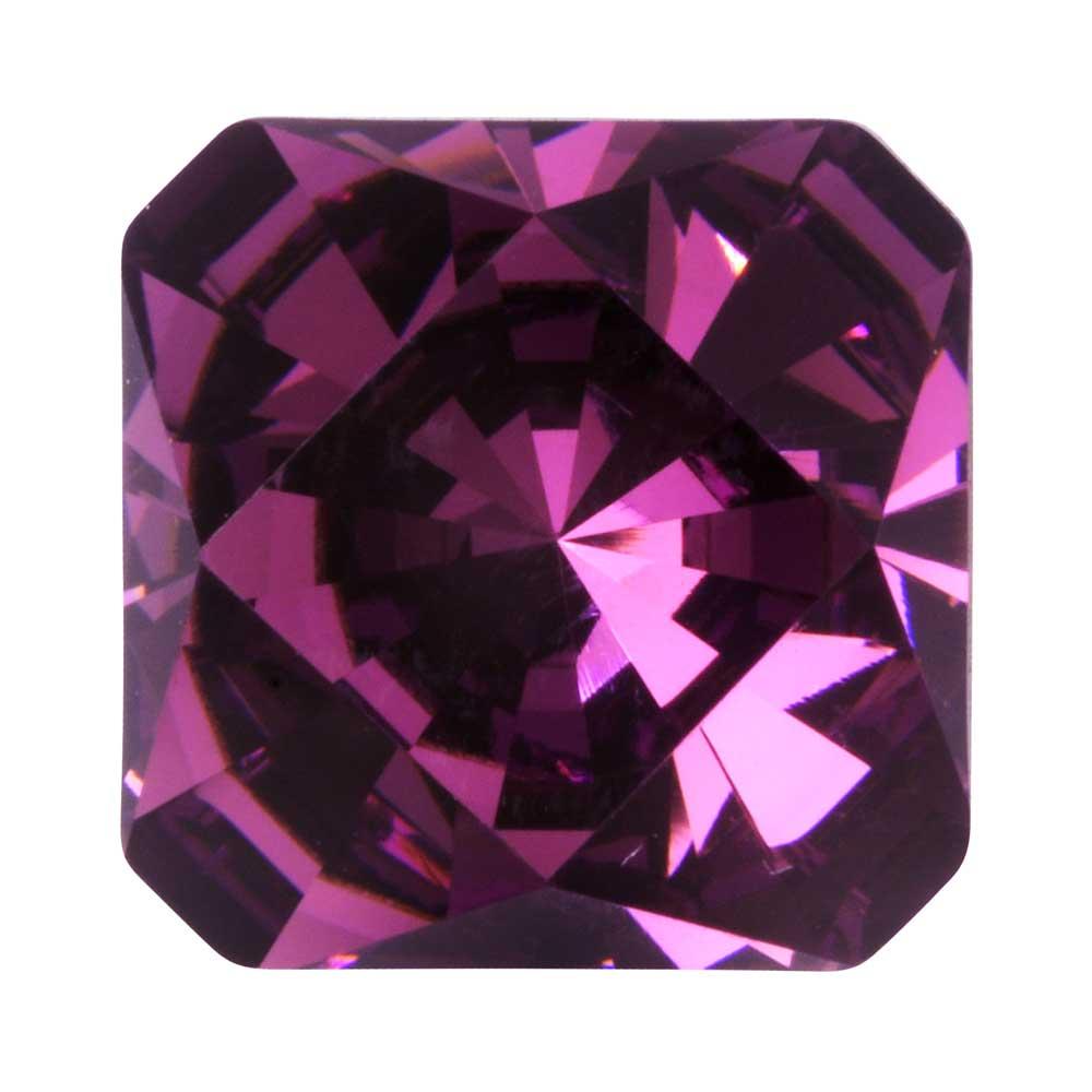 Final Sale - Swarovski Crystal, #4499 Kaleidoscope Square Fancy Stone 14mm, 1 Piece, Amethyst
