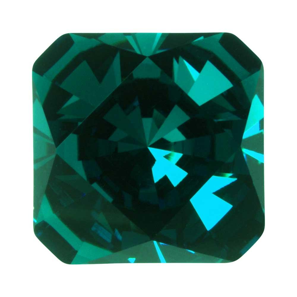 Final Sale - Swarovski Crystal, #4499 Kaleidoscope Square Fancy Stone 14mm, 1 Piece, Emerald F
