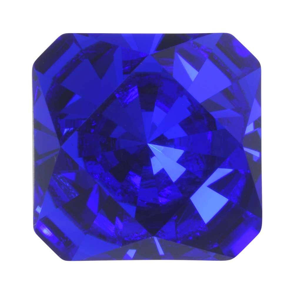 Final Sale - Swarovski Crystal, #4499 Kaleidoscope Square Fancy Stone 14mm, 1 Piece, Majestic Blue F