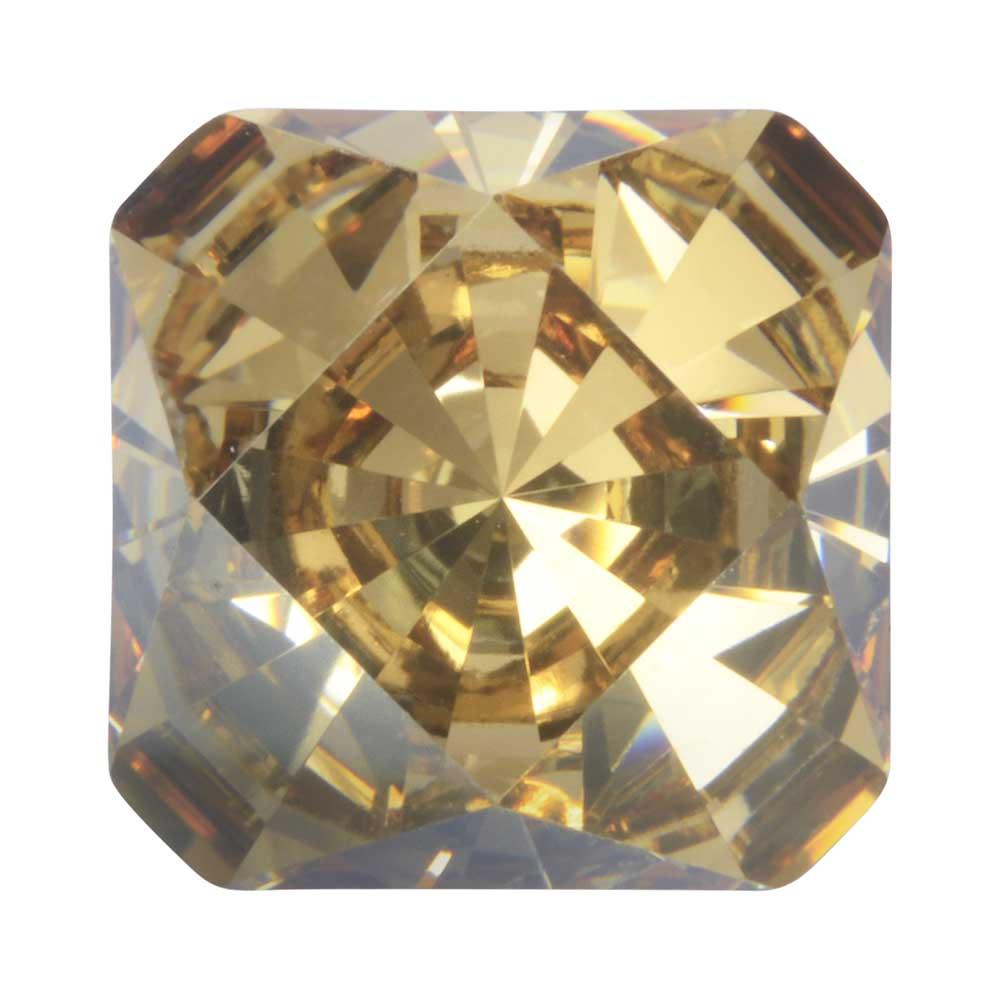 Final Sale - Swarovski Crystal, #4499 Kaleidoscope Square Fancy Stone 14mm, 1 Piece, Crystal Golden Shadow F