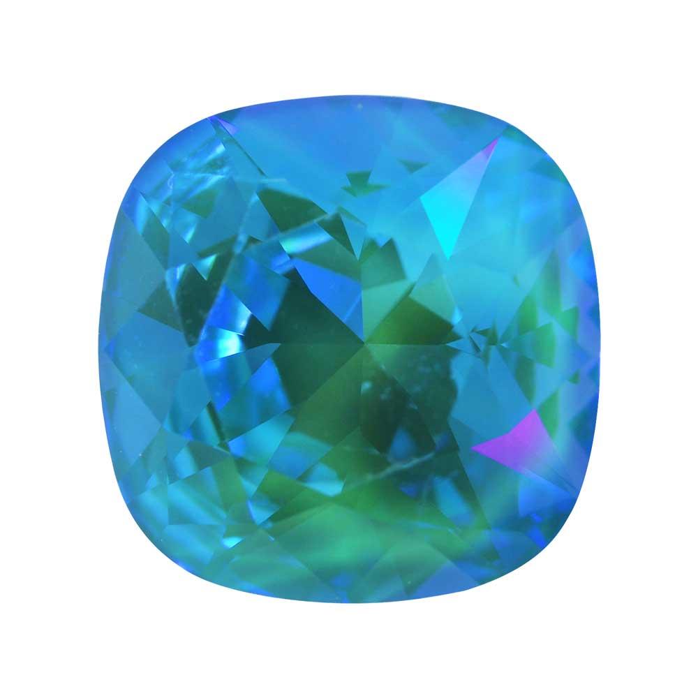 Swarovski Crystal, #4470 Cushion Fancy Stone 12mm, 1 Piece, Crystal Laguna DeLite