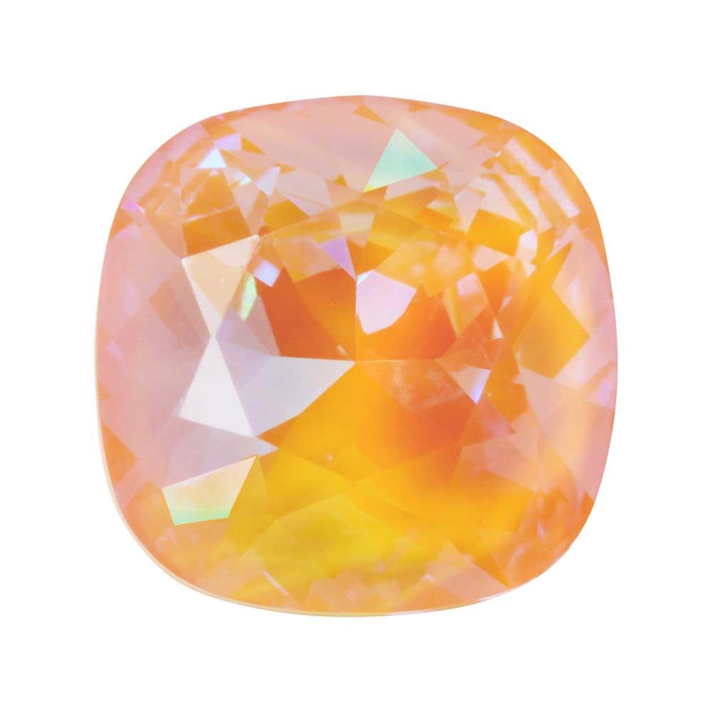 Swarovski Crystal, #4470 Cushion Fancy Stone 12mm, 1 Piece, Crystal Peach DeLite