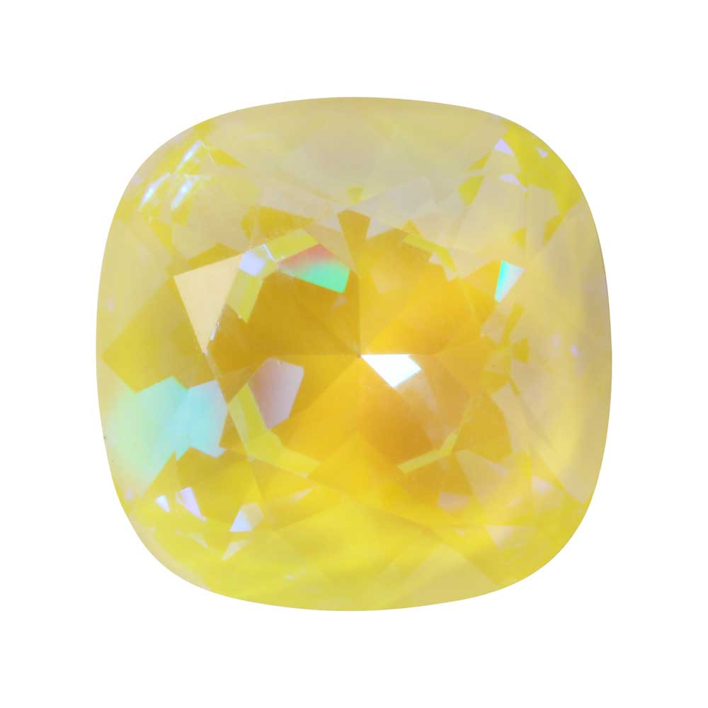 Swarovski Crystal, #4470 Cushion Fancy Stone 12mm, 1 Piece, Crystal Sunshine DeLite