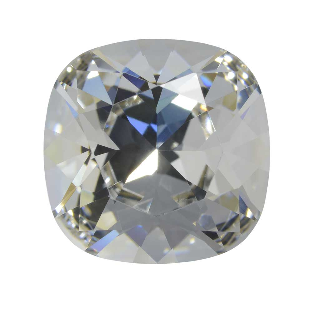 Swarovski Crystal, #4470 Cushion Fancy Stone 10mm, 1 Piece, Crystal Foiled