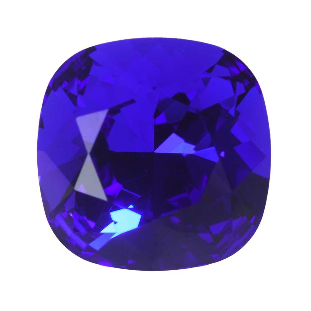 Swarovski Crystal, #4470 Cushion Fancy Stone 10mm, 1 Piece, Majestic Blue Foiled