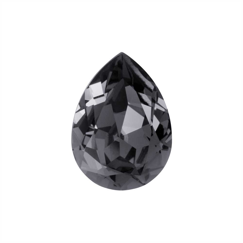 Swarovski Crystal, #4320 Pear Fancy Stone 18x13mm, 1 Piece, Crystal Silver Night F