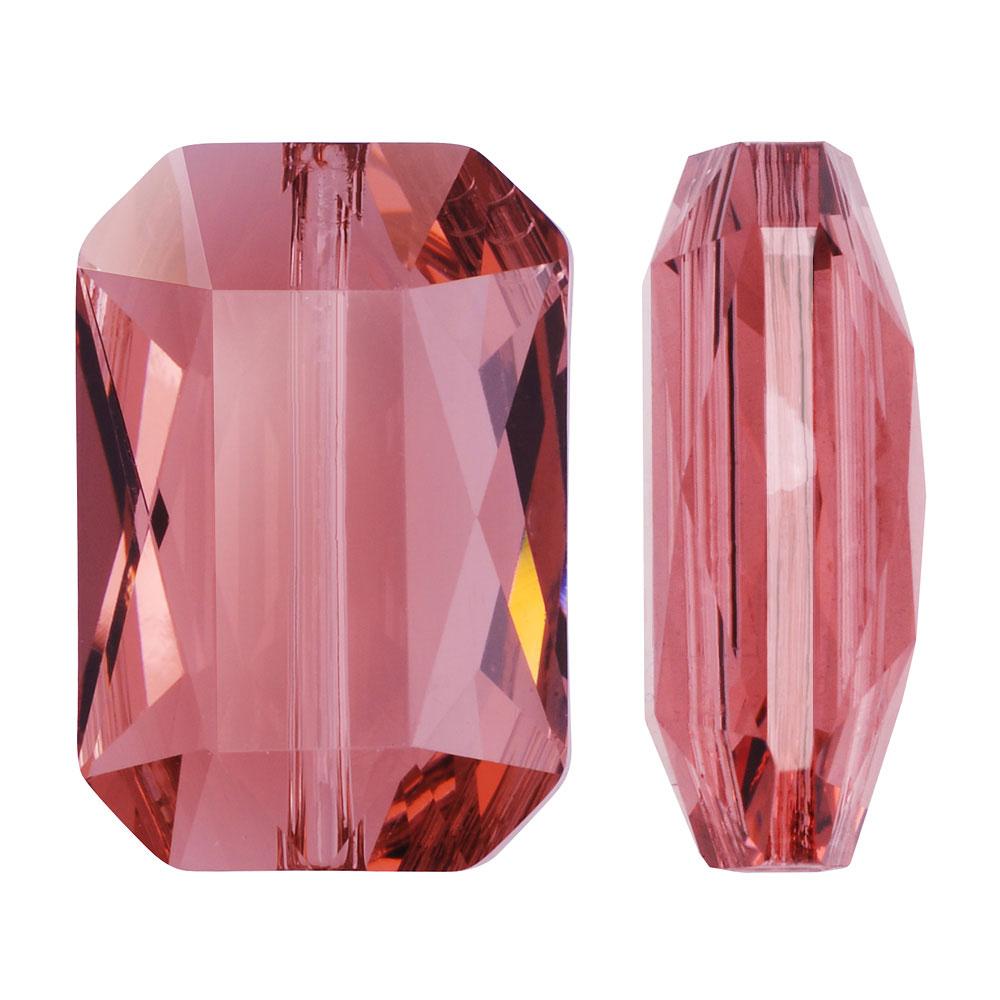 Swarovski Crystal, #5515 Emerald Cut Bead 14x9.5mm, 1 Piece, Blush Rose