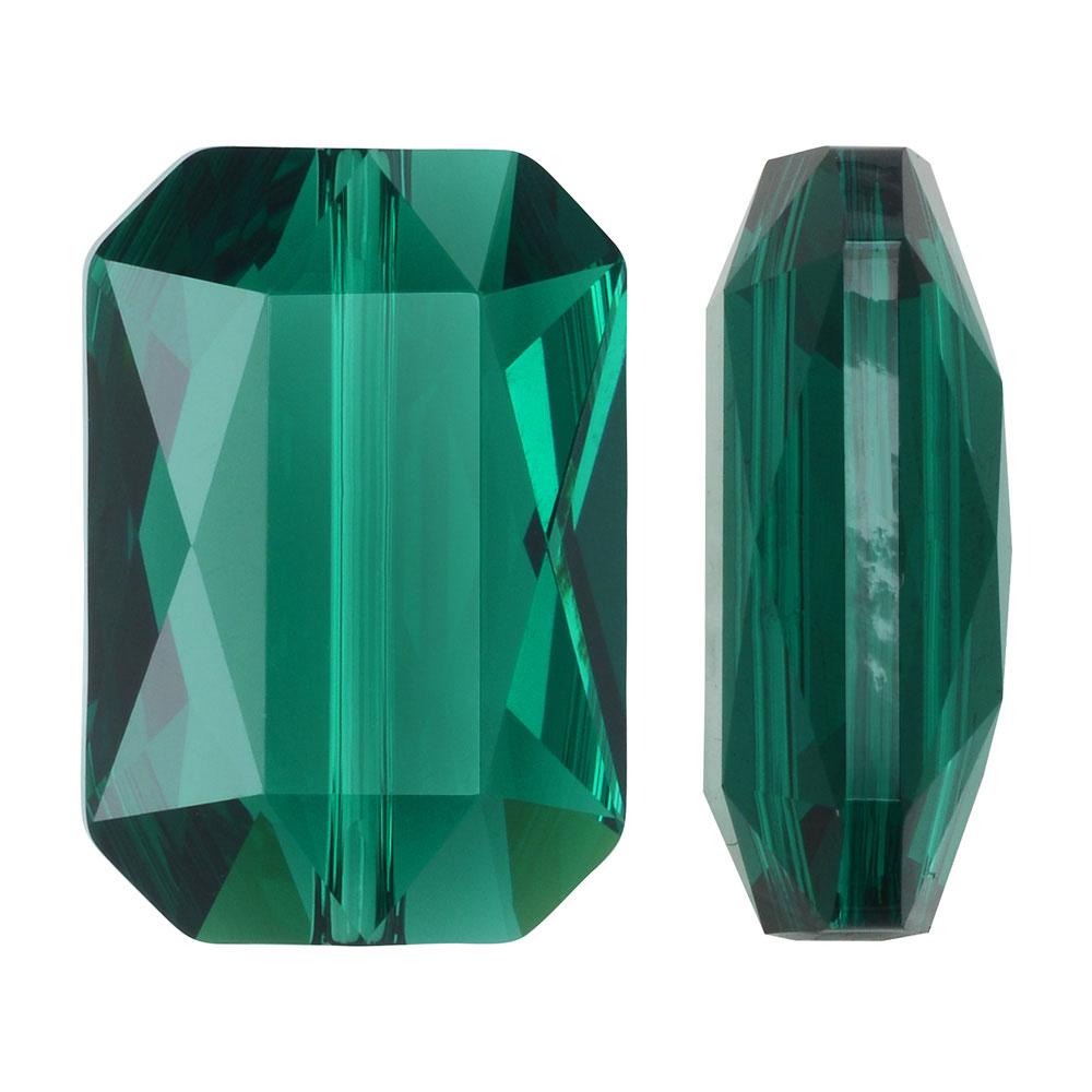 Swarovski Crystal, #5515 Emerald Cut Bead 14x9.5mm, 1 Piece, Emerald
