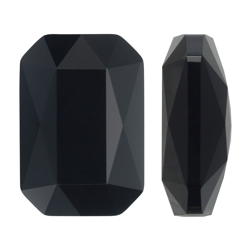 Swarovski Crystal, #5515 Emerald Cut Bead 14x9.5mm, 1 Piece, Jet