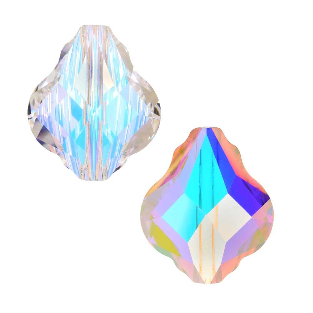Swarovski Crystal, #5058 Baroque Bead 10mm, 2 Pieces, Crystal AB