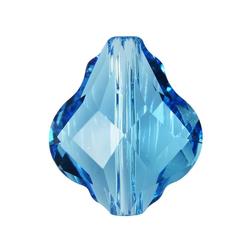 Swarovski Crystal, #5058 Baroque Bead 14mm, 1 Piece, Aquamarine