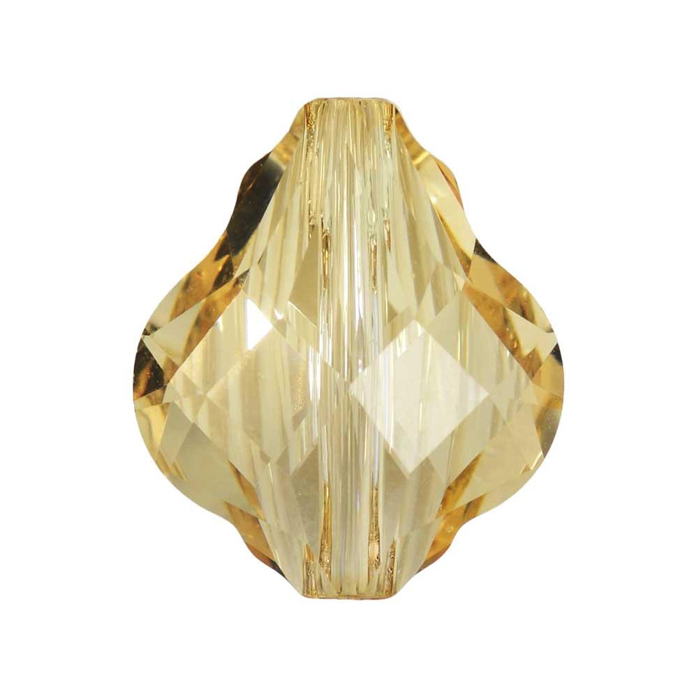 Swarovski Crystal, #5058 Baroque Bead 14mm, 1 Piece, Crystal Golden Shadow