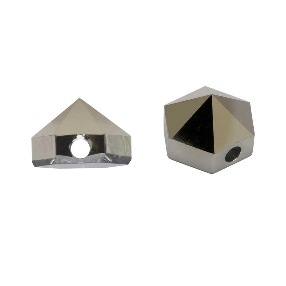 Final Sale - Swarovski Crystal, #5060 Hexagon Spike Beads 5.5mm, 4 Pieces, Crystal Metallic Light Gold